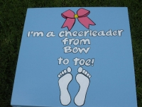 Cheerleader Toe to Bow