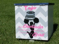 Chevron Stripe cheerleader